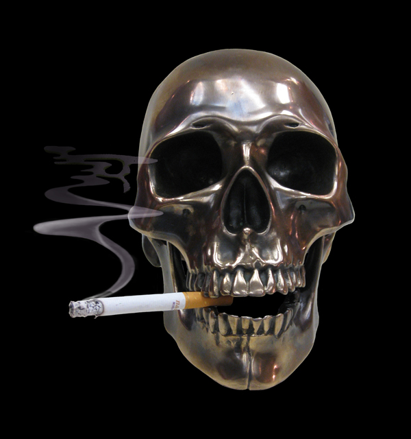 smokin Bronze Skull